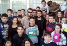Σε σχολεία παίκτες του Ολυμπιακού (photos)