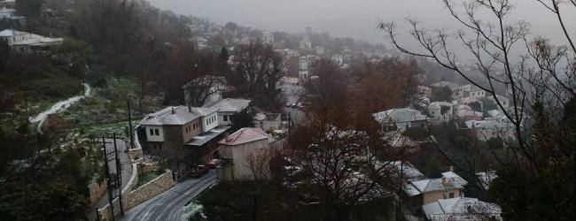 Η Ένωση Ξενοδόχων καλεί τους επισκέπτες στο πανέμορφο, χιονισμένο Πήλιο