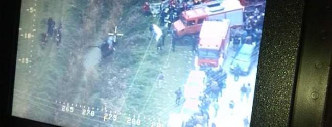 Μεσολόγγι: Οσα κατέγραψε το ελικόπτερο της ΕΛ.ΑΣ. -Το αναποδογυρισμένο ΙΧ μέσα στο αρδευτικό κανάλι (photos)