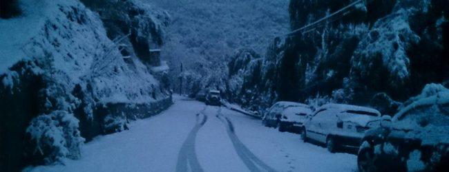 Το χιόνι έφθασε και στο Βόλο – Τσουχτερό κρύο και σήμερα