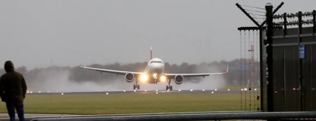 Προσγείωση θρίλερ στο Άμστερνταμ (video)