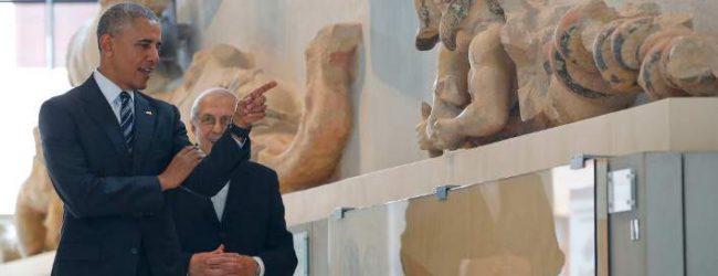 Καρέ καρέ η ξενάγηση Ομπάμα στο Μουσείο Ακρόπολης -Εντυπωσιάστηκε, «θα επιστρέψω με τη Μισέλ και τα παιδιά», είπε