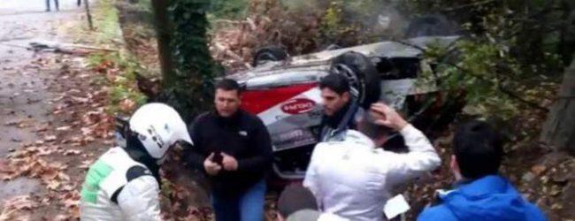 Ατύχημα στο ράλι Λαμίας – Καλά στην υγεία του το πλήρωμα (video)