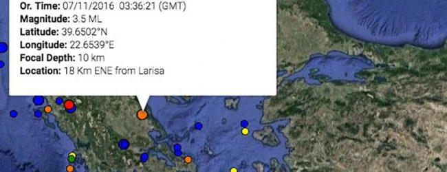 Σεισμός στη Λάρισα – Κοντά στη πόλη το επίκεντρο