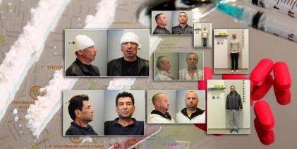 Oι 145 του καρτέλ ναρκωτικών στο κέντρο της Αθήνας – Οι φωτογραφίες των κατηγορουμένων που γέμισαν με ναρκωτικά το κέντρο της Αθήνας