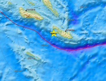 Σεισμός 8 Ρίχτερ στα νησιά Σολομώντα! Προειδοποίηση για τσουνάμι!
