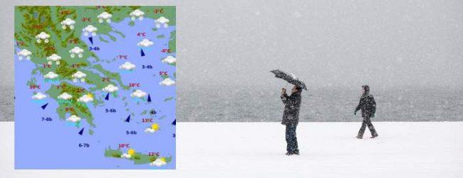 Οι χάρτες με τα χιόνια και τις καταιγίδες στην Ελλάδα σήμερα -Πού θα χτυπήσουν τα φαινόμενα (photos)