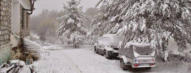 Επεσαν τα πρώτα χιόνια στο Πήλιο – Live εικόνα