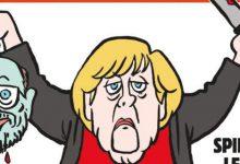 Η Μέρκελ «αποκεφαλίζει» τον Σουλτς στη γερμανική έκδοση του Charlie Hebdo