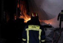Πυρκαγιά σε εγκαταλελειμμένο εργοστάσιο στον Τύρναβο