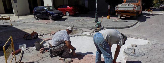 Εργασίες συντήρησης σε τμήμα της οδού Ρ. Φεραίου