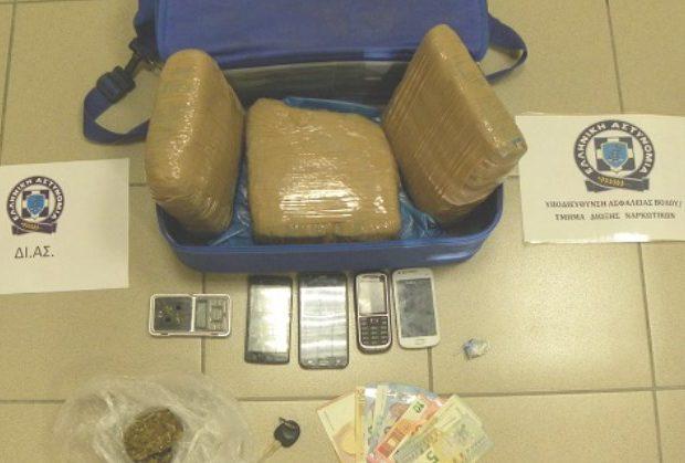 Τέσσερις συλλήψεις στον Βόλο για διακίνηση ναρκωτικών