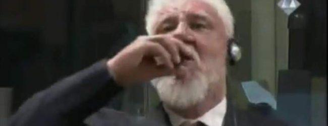 Σοκ: Πέθανε ο στρατηγός που ήπιε δηλητήριο στο δικαστήριο της Χάγης (video)