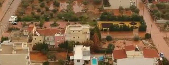 Βίντεο από drone: «Κοκκίνισε» το Θριάσιο από τη λάσπη