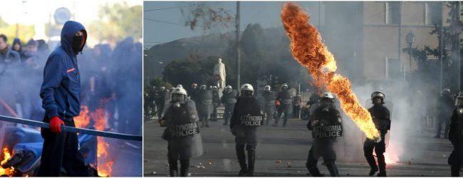 Επεισοδιακή πορεία στο κέντρο της Αθήνας για τον Αλέξη Γρηγορόπουλο