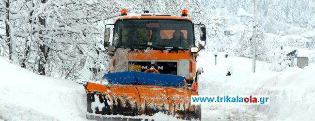 Μέχρι 80 εκ. έφτασε το χιόνι στα ορεινά των Τρικάλων, όπου χιονίζει από χθες το βράδυ ακατάπαυστα.