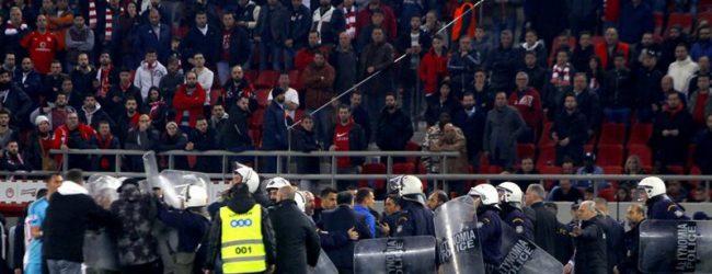 Ολυμπιακός: Ποινή αφαίρεσης τριών βαθμών για τα επεισόδια στον αγώνα με την ΑΕΚ