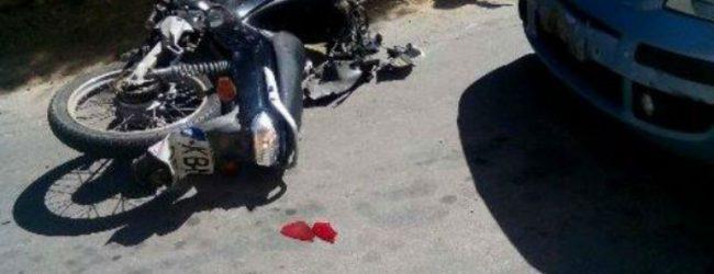 Λάρισα: Αυτοκίνητο συγκρούστηκε με μηχανάκι – Στο νοσοκομείο 43χρονη Λαρισαία