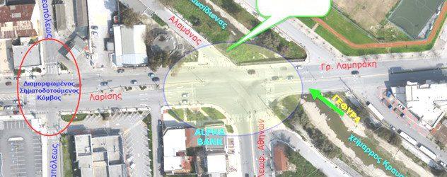 Προχωρά και ο κυκλικός κόμβος Αθηνών – Λαρίσης – Στο Δημοτικό Συμβούλιο η μελέτη του έργου