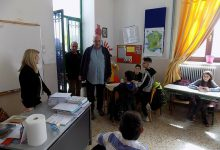 Σε δημοτικό σχολείο της Ν. Αγχιάλου ο Αχιλλέας Μπέος