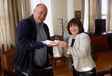 Συνάντηση Αχ. Μπέου με την πρέσβειρα της Σλοβακίας