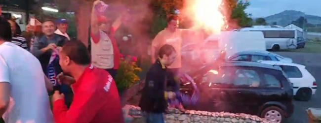 Βίντεο: Αποθέωση στην Εθνική οδό των παικτών του Volos NFC