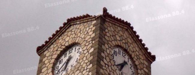 Κεραυνός χτύπησε το καμπαναριό του Αγ.Δημητρίου στην Ελασσόνα (φωτό)