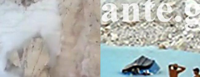 Βίντεο από Ναυάγιο: Η στιγμή που έπεσε ο βράχος στη Ζάκυνθο