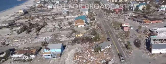 Εικόνα απόλυτης καταστροφής μετά το πέρασμα του τυφώνα Michael από τη Φλόριντα (vid)
